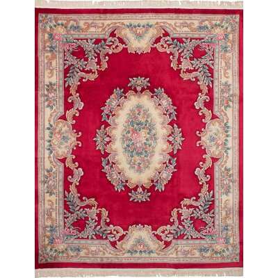 Allen Park Hand-Knotted Wool Red Indoor Area Rug