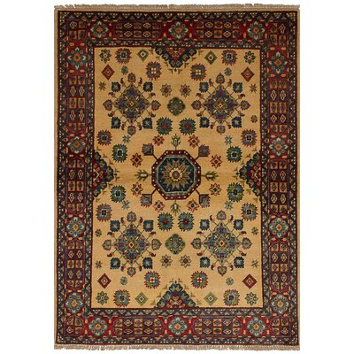 Bernard Traditional Hand-Knotted Wool Cream Indoor Area Rug