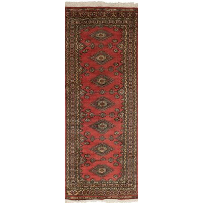 One-of-a-Kind Olney Springs Hand-Knotted Wool Red Indoor Area Rug