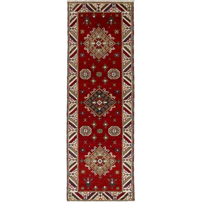 Berkshire Hand-Knotted Wool Dark Red Indoor Area Rug