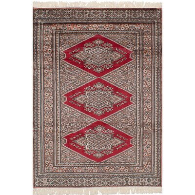 Onondaga Hand-Knotted 100% Wool Red Indoor Area Rug