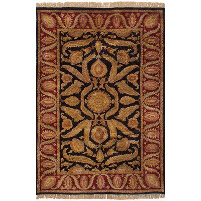 One-of-a-Kind Ina Hand-Knotted Wool Brown/Dark Red Indoor Area Rug