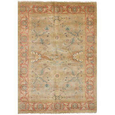 Bassford Hand-Knotted Wool Khaki Indoor Area Rug