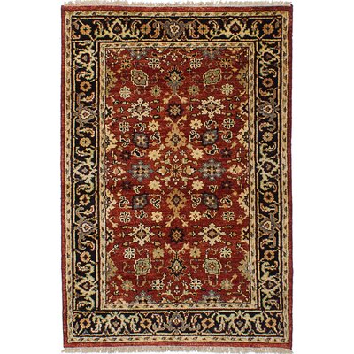 Briggs Hand-Knotted Wool Red Indoor Area Rug