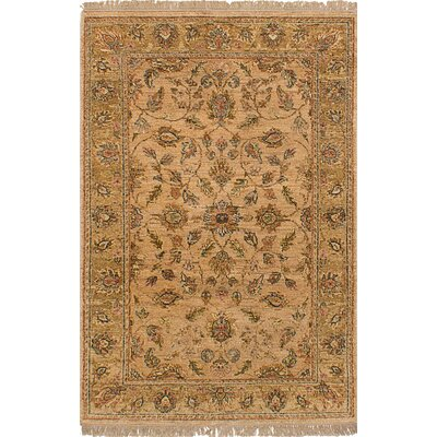 One-of-a-Kind Charlena Hand-Knotted Wool Beige Area Rug