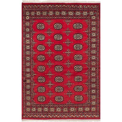 Onondaga Hand-Knotted Wool Red Indoor Area Rug Rug Size: 41 x 65