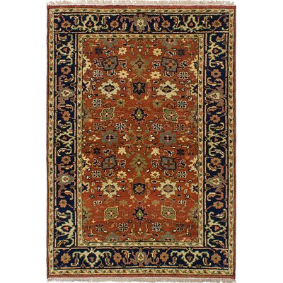 Briggs Hand-Knotted Wool Dark Copper Indoor Area Rug
