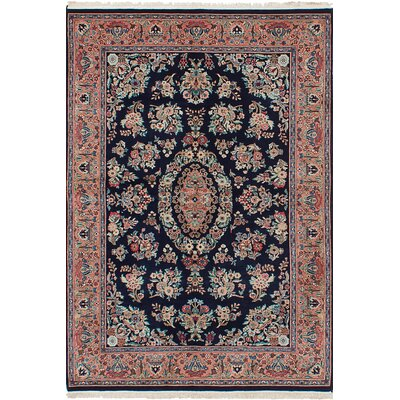 One-of-a-Kind Kennett Hand-Knotted Wool Dark Navy/Brown Area Rug