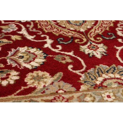 Armistead Hand-Knotted Wool Red Indoor Area Rug