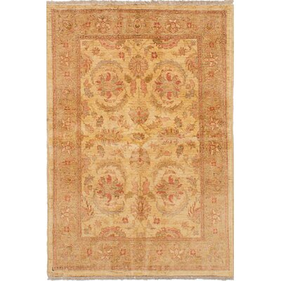 Charlena Hand-Knotted Wool Ivory Floral Indoor Area Rug