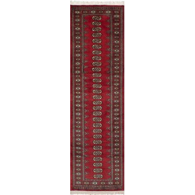 Olney Springs Bohemian Hand-Knotted Wool Red Indoor Area Rug