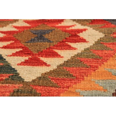 Fianna Hand-Woven Wool Rectangular Red/Brown Indoor Area Rug
