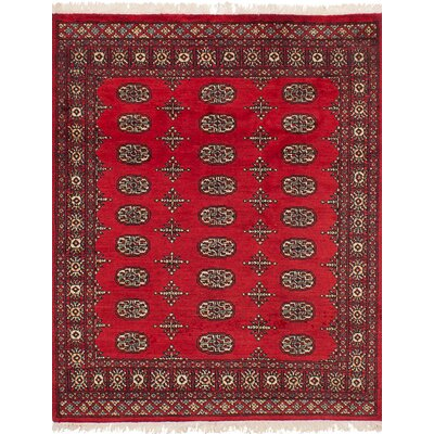 Onondaga Hand-Knotted Wool Red Indoor Area Rug Rug Size: 42 x 56