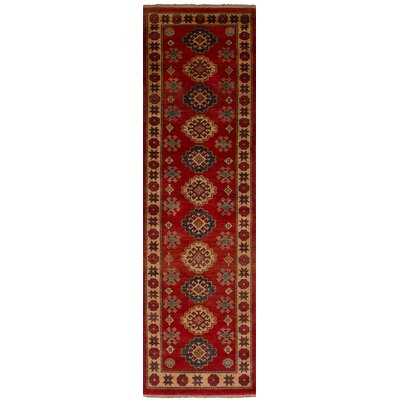 One-of-a-Kind Bernard Hand-Knotted Wool Red Indoor Area Rug