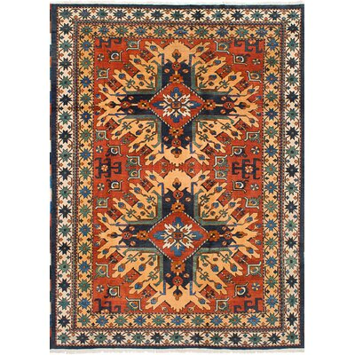 One-of-a-Kind Glenmore Hand-Knotted Wool Dark Copper/Yellow Indoor Area Rug