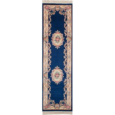 One-of-a-Kind Allen Park Hand-Knotted Wool Navy Blue/Beige Indoor Area Rug
