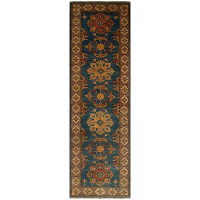Bernard Hand-Knotted 100% Wool Blue Indoor Area Rug Rug Size: Runner 29 x 99