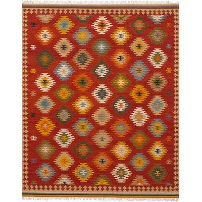 Fieldstone Hand-Woven Wool Red Indoor Area Rug