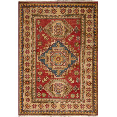 Bernard Traditional Hand-Knotted Weave Wool Rectangular Red Indoor Area Rug