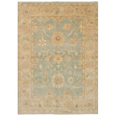 Bassford Traditional Hand-Knotted Wool Light Blue Indoor Area Rug Rug Size: 61 x 810