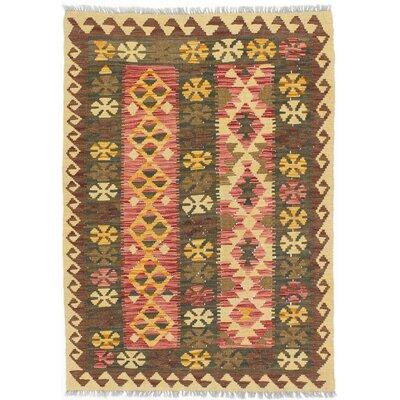 Fieldstone Hand-Woven Wool Dark Burgundy/Dark Green Indoor Area Rug