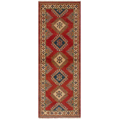 Bernard Hand-Knotted Wool Rectangular Red Southwestern Indoor Area Rug