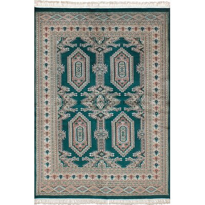 One-of-a-Kind Onondaga Hand-Knotted Wool Dark Green/Gray Indoor Area Rug