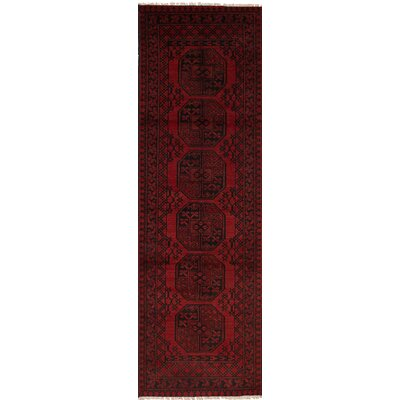 Bridges Hand-Knotted Wool Red Indoor Area Rug