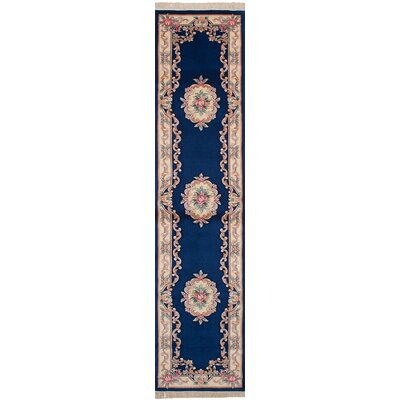 Allen Park Hand-Knotted Wool Dark Blue Indoor Area Rug