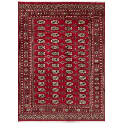 Olney Springs Hand-Knotted Wool Rectangular Red Indoor Area Rug
