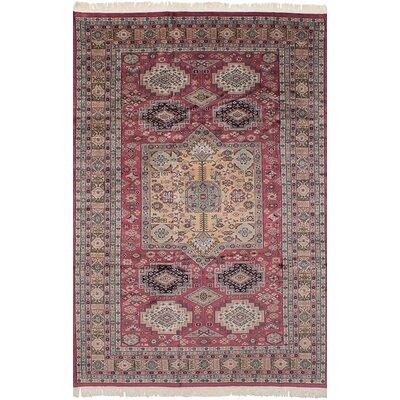 One-of-a-Kind Orangetree Hand-Knotted Wool Dark Pink Indoor Area Rug