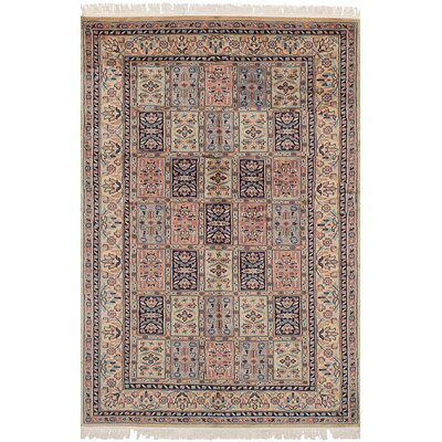 Orangetree Hand-Knotted Wool Copper/Ivory Indoor Area Rug