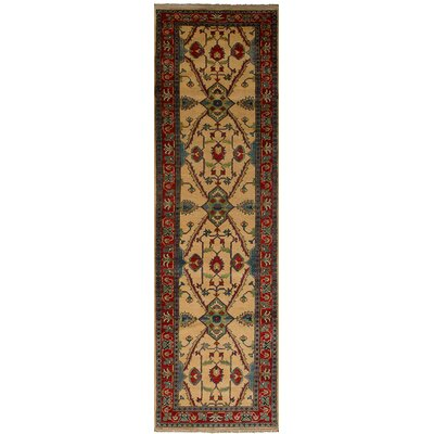 Bernard Hand-Knotted 100% Wool Cream Indoor Area Rug