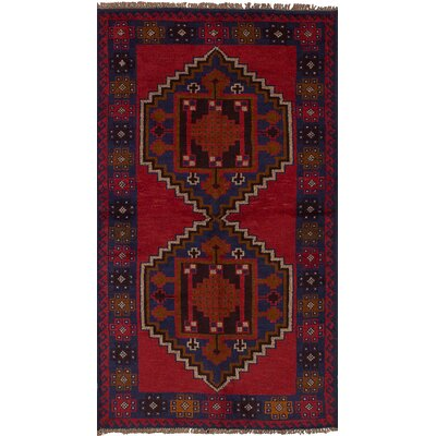 Onawa Hand-Knotted Wool Rectangular Red Indoor Area Rug