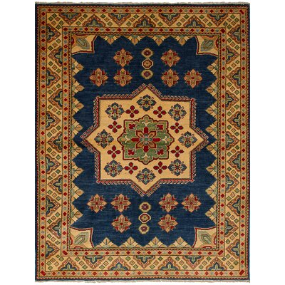 Bernard Traditional Hand-Knotted Wool Navy Blue Indoor Area Rug