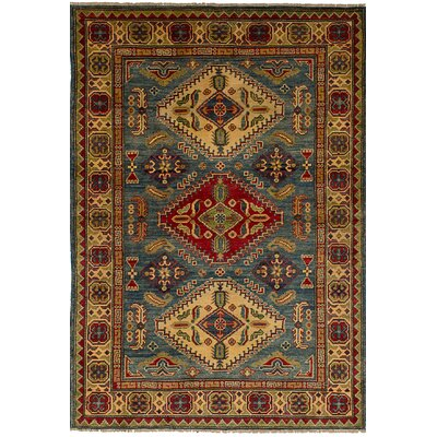 Bernard Traditional Hand-Knotted Wool Blue Indoor Area Rug