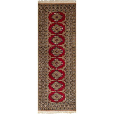 Onondaga Hand-Knotted Wool Red Bohemian Indoor Area Rug