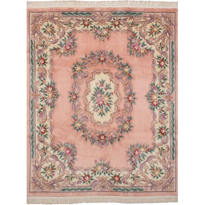 Allen Park Hand-Knotted Wool Salmon Indoor Area Rug