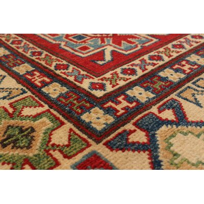 Bernard Traditional Hand-Knotted Wool Rectangular Red Indoor Area Rug