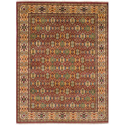 One-of-a-Kind Bernard Traditional Hand-Knotted Wool Red/Beige Indoor Area Rug