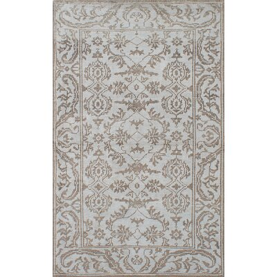 One-of-a-Kind Higham Hand-Knotted Silk Light Gray Indoor Area Rug