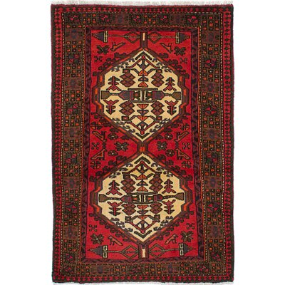 One-of-a-Kind Roth Traditional Hand-Knotted Wool Red/Brown Indoor Area Rug