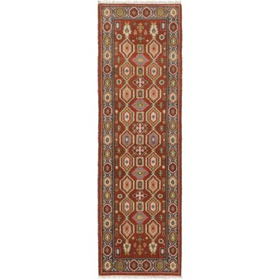 One-of-a-Kind Berkshire Hand-Knotted Wool Dark Copper Indoor Area Rug