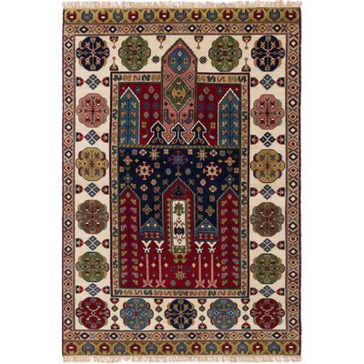 Berkshire Hand-Knotted Wool Red Bohemian Indoor Area Rug