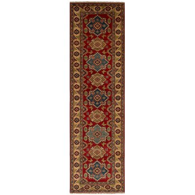 Bernard Hand-Knotted Wool Red Geometric Indoor Area Rug