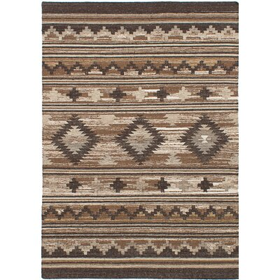 McPhail Hand-Woven Wool Brown Indoor Area Rug