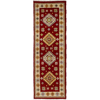 One-of-a-Kind Berkshire Hand-Knotted Wool Red/Yellow Indoor Area Rug