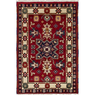 Berkshire Hand-Knotted 100% Wool Rectangular Red Indoor Area Rug