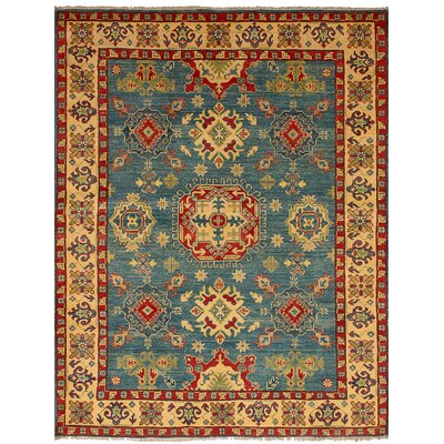 One-of-a-Kind Bernard Hand-Knotted Wool Blue/Beige Indoor Area Rug
