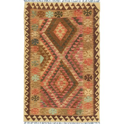 Fieldstone Hand-Woven Wool Brown/Beige Indoor Area Rug